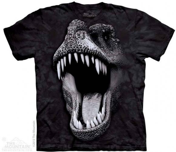 Tête de T-Rex (Glow) - T-shirt dinosaure The Mountain