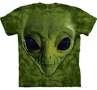 T-Shirt Alien Vert par The Mountain
