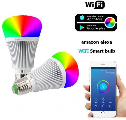 ampoule led wifi rgb couleurs culot e27 6w rf remote controle distance ewelink