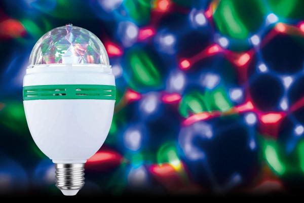 ampoule led rotative Motion effet Disco 1,5W E27 multicolore eclairage soirée fete