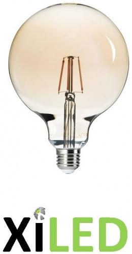 ampoule led globe 125mm-FILLED 6W E27-blanc chaud 2500k