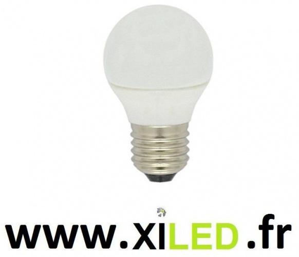 ampoule led e27 boule opaque standart 50w halogene-600 lumens