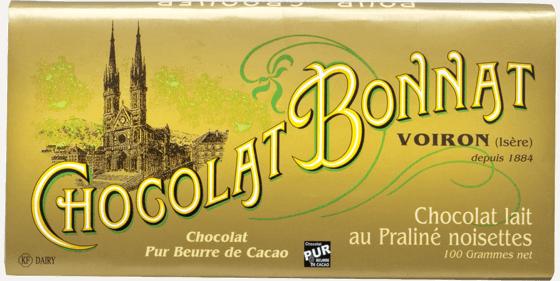 Tablette chocolat au lait au praliné noisettes 100g