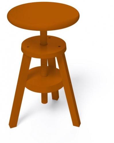 Tabouret à vis chocolat - abc meubles