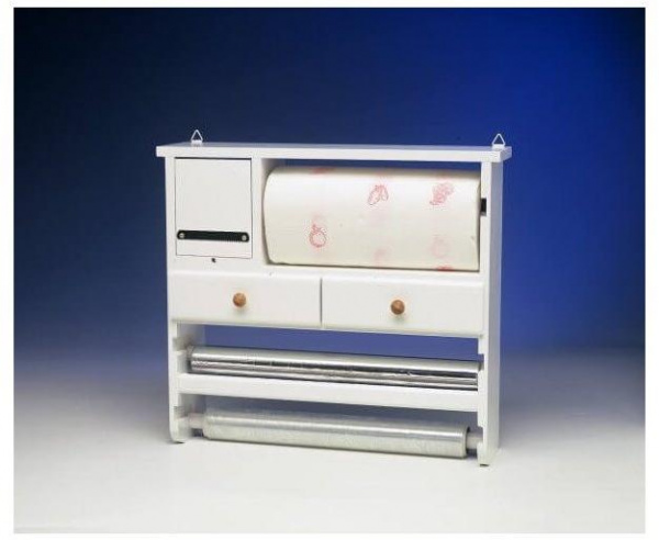 Dévidoir bois multi-services blanc - abc meubles