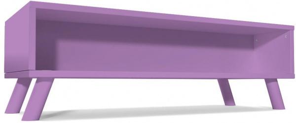 Table basse scandinave rectangulaire viking bois lilas - abc meubles