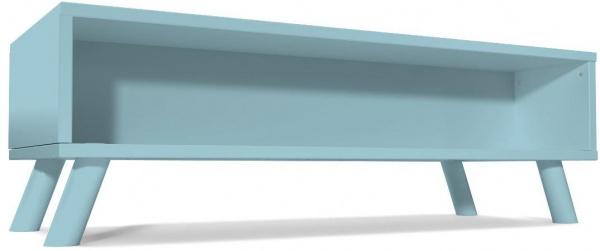 Table basse scandinave rectangulaire viking bois bleu pastel - abc meubles