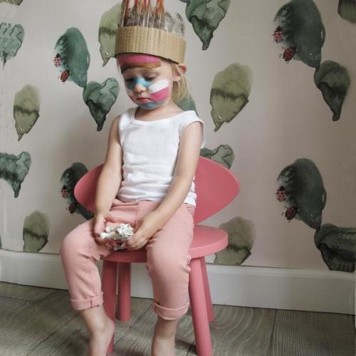 Chaise enfant Mouse - rose