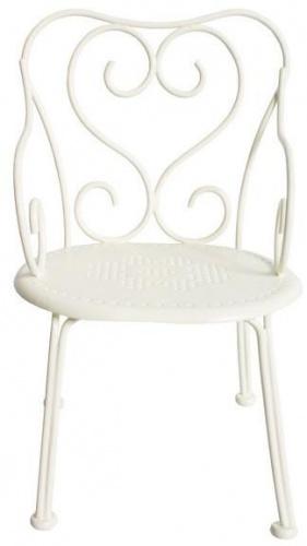 maileg chaise de poupée en fer forgé blanc romantic chair métal romantic chair blanche maileg