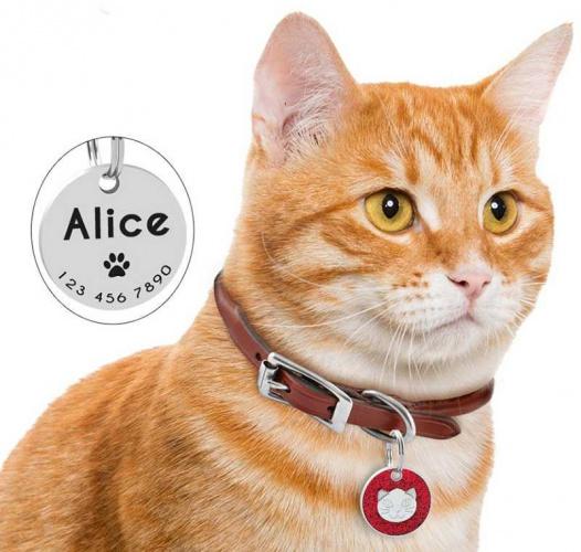 Médaille personnalisée ronde avec tête de chat