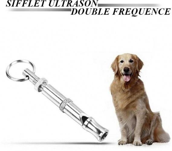 Sifflet ultrason pour chien double fréquence