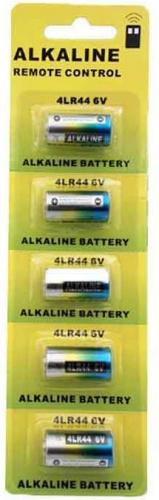 Lot de 5 piles pour collier anti-aboiement 4LR44 Alcaline 6V