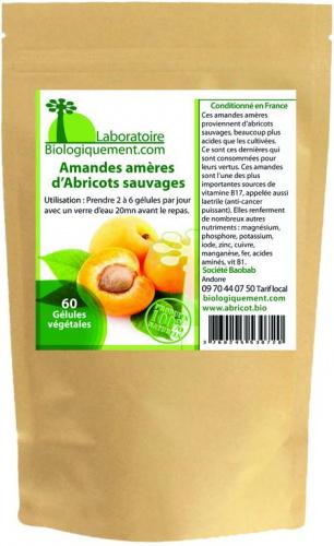 Gélules de poudre d'Amandes amères d'Abricot