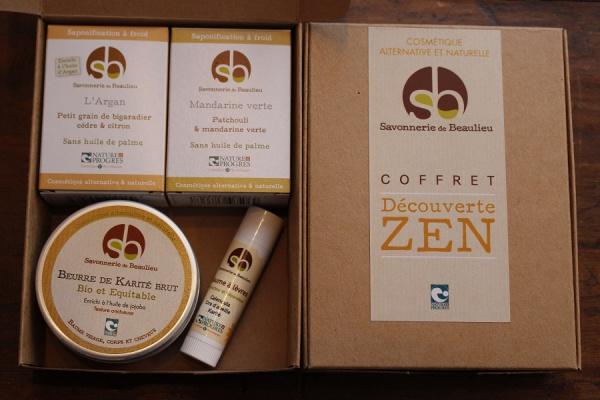 Coffret DECOUVERTE - ZEN - savons, beurre de karité, baume à lèvres