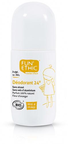 Déodorant 24h Bio - fleur d'oranger