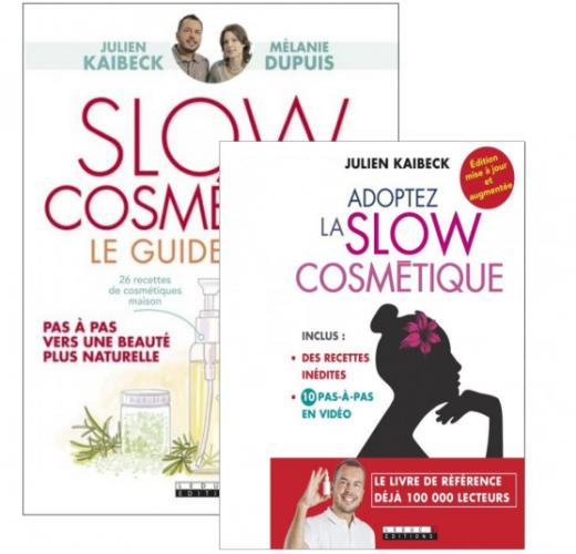 Duo de livres : Slow Cosmétique - Le Guide Visuel et Adoptez la Slow Cosmétique (2017)