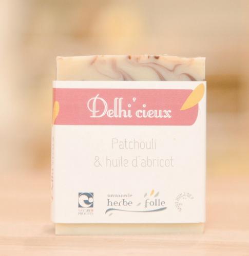 Savon Delhi'cieux - Patchouli et huile d'abricot - Bio & Vegan