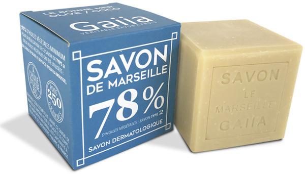 CUBE SAVON DE MARSEILLE / OLIVE - COCO / 250GR