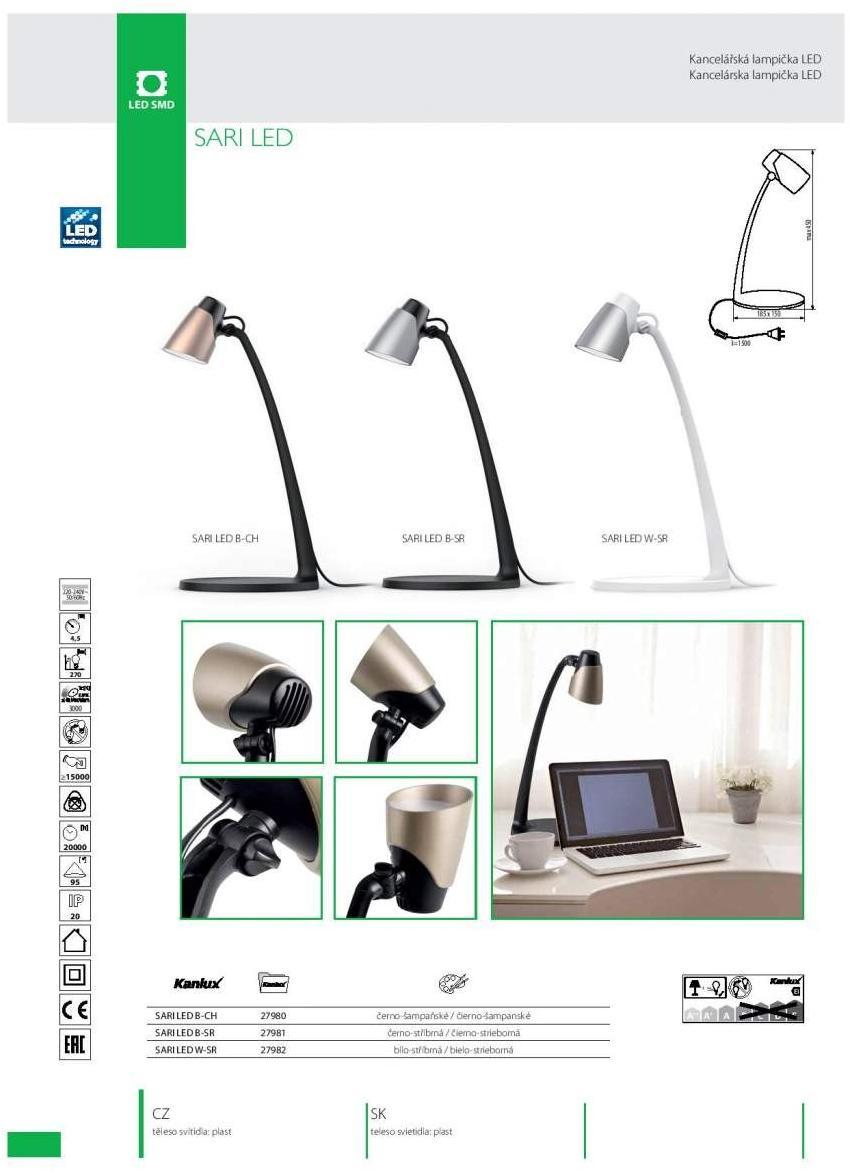 270 Bureau 4 5w Lumens Et Table Lampe Lecture De Noire Led KclTF1J3