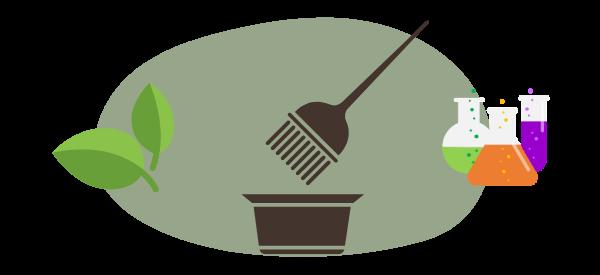 coloration végétale vs coloration chimique