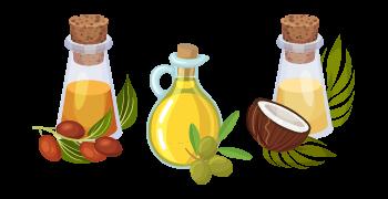 les huiles végétales pour les cheveux