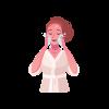 icône femme nettoyant visage