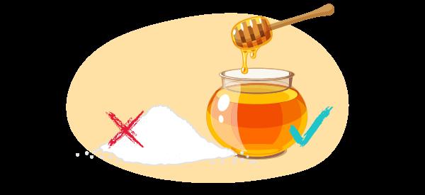 remplacer sucre par miel pour santé