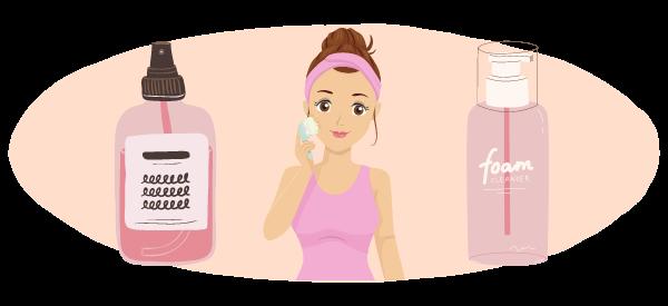 les nettoyants visage pour peau mixte