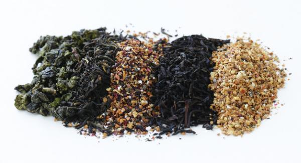 thé vert noir blanc